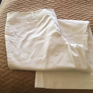 White cotton spandex slacks